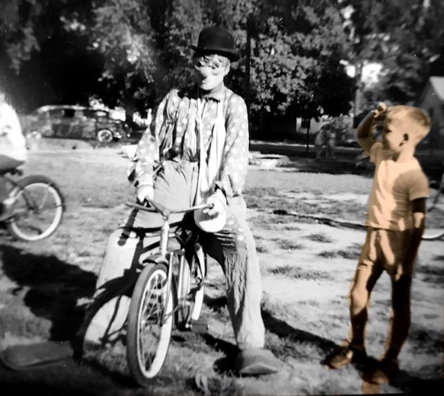 David Vaughn Visits with Clown