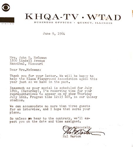 Hal Barton Letter