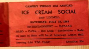 Ice Cream Social Ticket